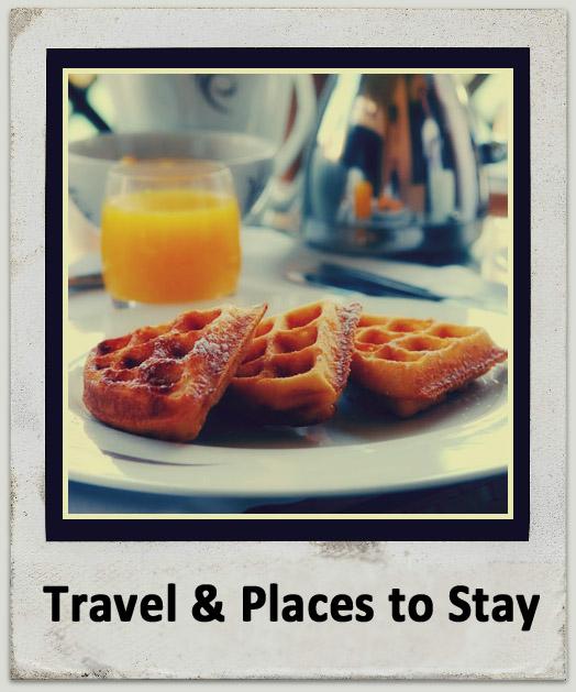 waffles at breakfast table