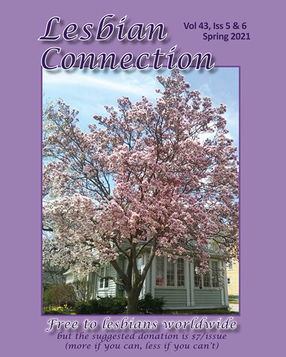 LC Cover Spring 2021 magnolia tree in bloom in front of LC's office